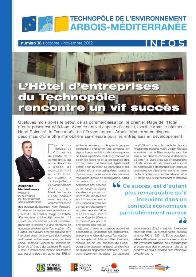 numéro 36 I octobre - novembre 2012                                                                                  INFOS...