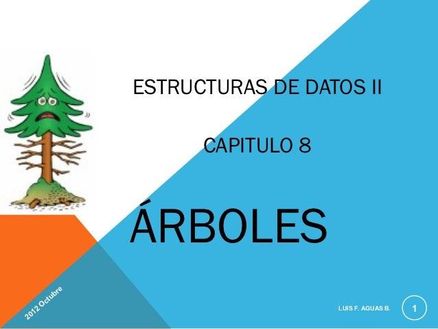 ESTRUCTURAS DE DATOS II                               CAPITULO 8                         ÁRBOLES                     e    ...