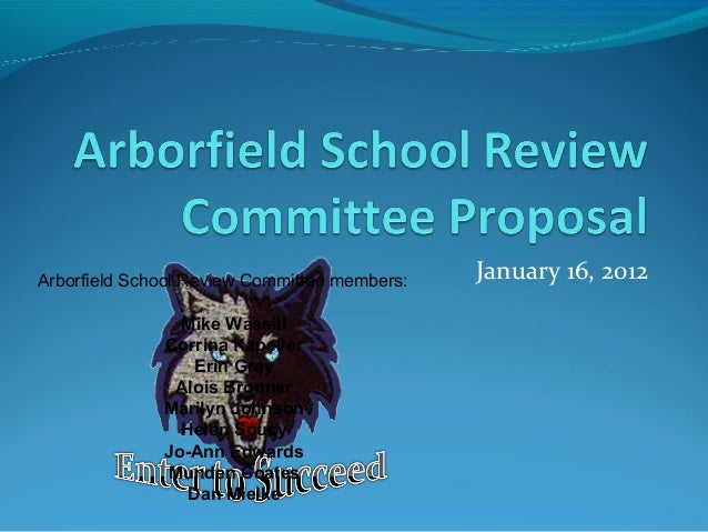Arborfield school review committee proposal