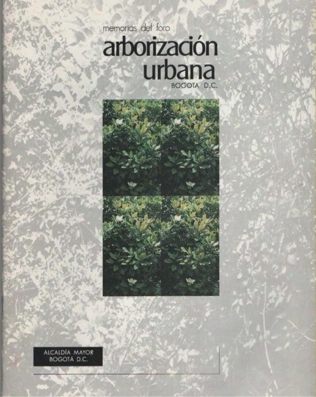 Arborizacion urbana
