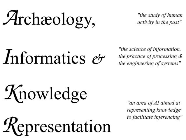 Archaeology, Informatics and Knowledge Representation
