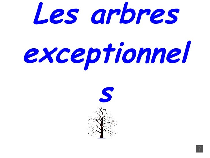 Arbresexceptionnels