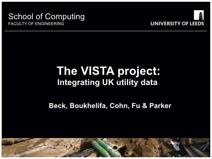 Integrating GIS utility data in the UK