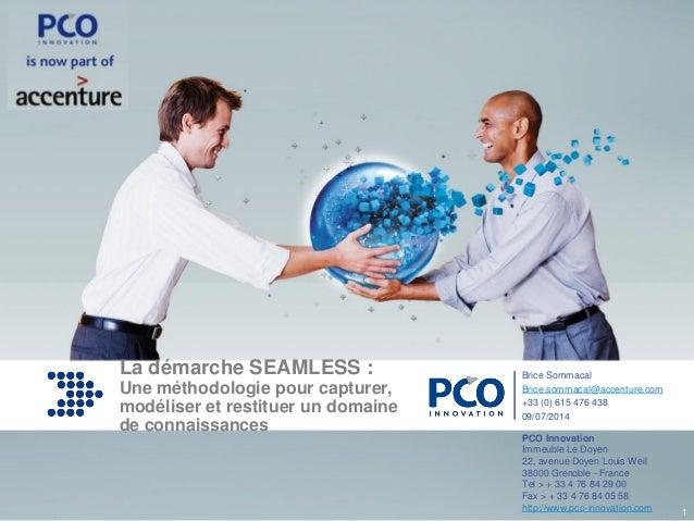 www.pco-innovation.comwww.pco-innovation.com Cliquez et modifiez le titre La démarche SEAMLESS : Une méthodologie pour cap...