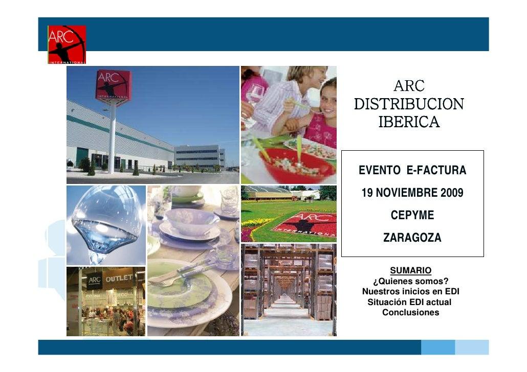 Experiencia de ARC Distribución Ibérica con la factura electrónica