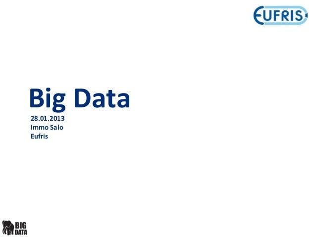 Big Data28.01.2013Immo SaloEufris