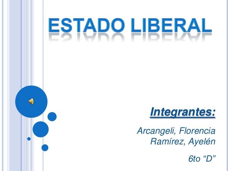 "Integrantes:Arcangeli, Florencia   Ramírez, Ayelén             6to ""D"""
