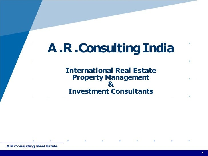 Profile - A.R.Consulting Bangalore