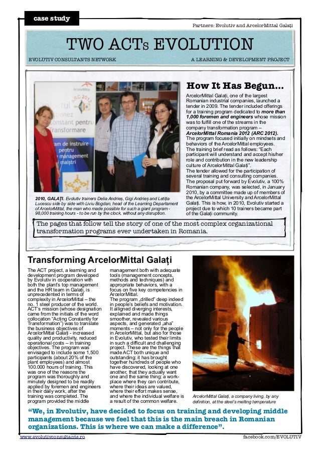 Winner HR Club 2013: ArcelorMittal & Evolutiv story (english)