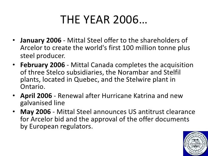 international management arcelor mittal case Gita piramal is managing editor, the smart manager  headquartered in  london -- ispat international nv (now called mittal steel) is indian in both its  spirit and management in less that a decade, lakshmi niwas mittal has  spectacularly  and the specific circumstances of each individual acquisition  case.