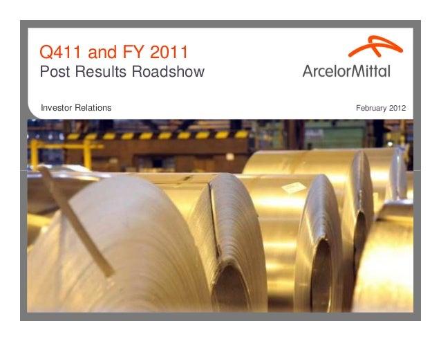 Arcelormittal presentation investors_roadshow
