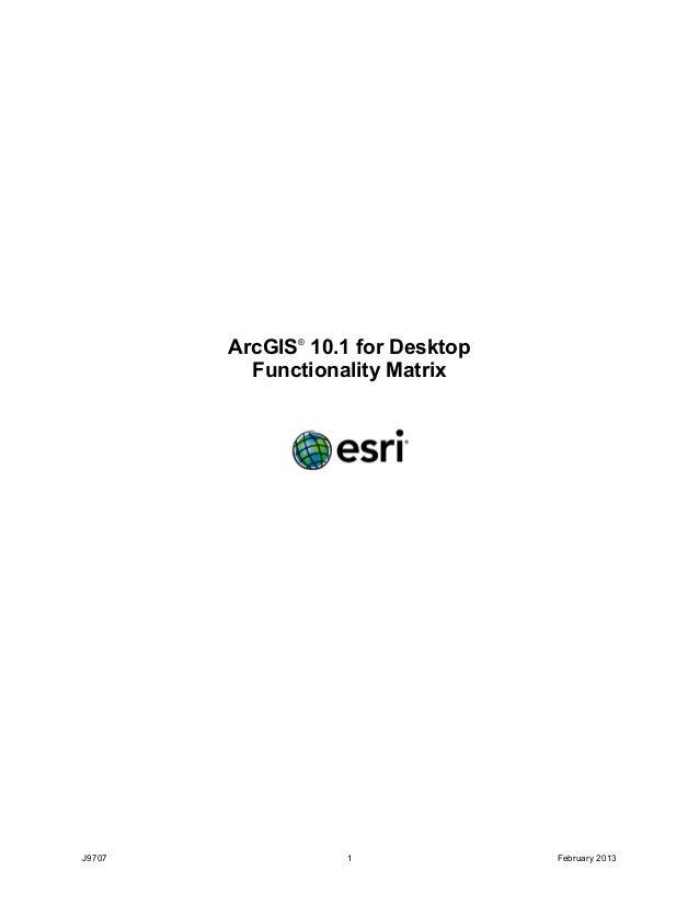 ArcGIS10.1 for Desktop Functionality Matrix