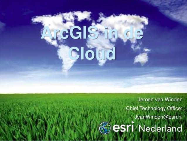 ArcGIS in de cloud