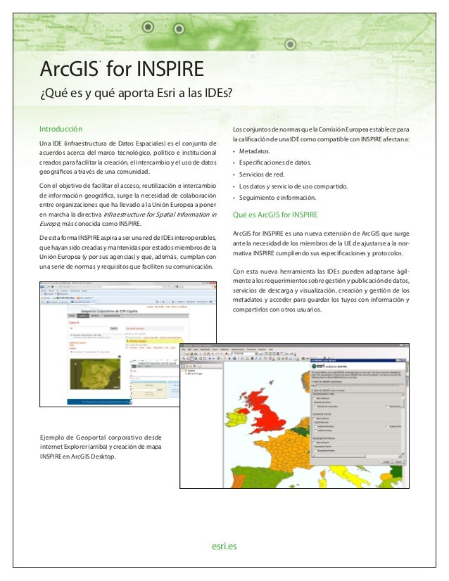 Flyer ArcGIS for INSPIRE