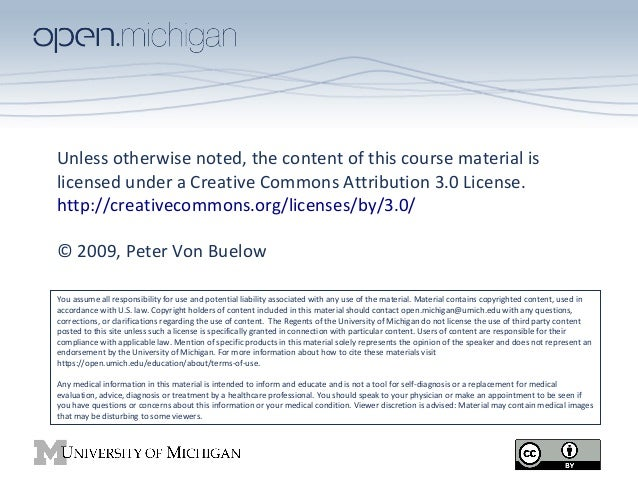 Unless otherwise noted, the content of this course material is licensed under a Creative Commons Attribution 3.0 License. ...