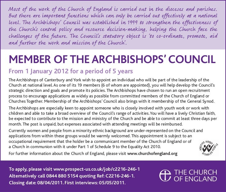 Archbishops' Council Appointment