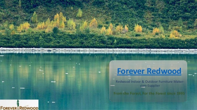Forever Redwood Redwood Indoor & Outdoor Furniture Maker- cum-Supplier From the Forest, For the Forest since 1995
