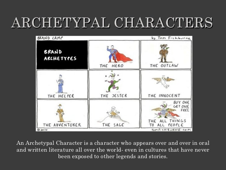 ARCHETYPAL CHARACTERSAn Archetypal Character is a character who appears over and over in oraland written literature all ov...