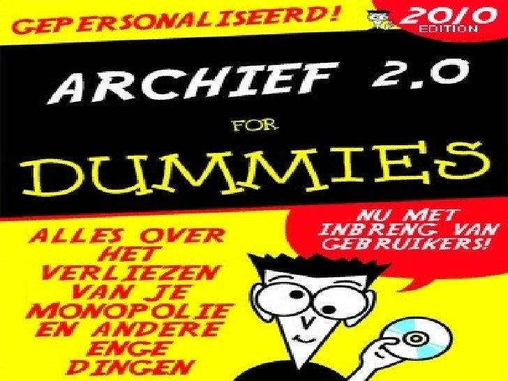 Archief 2 0 voor dummies