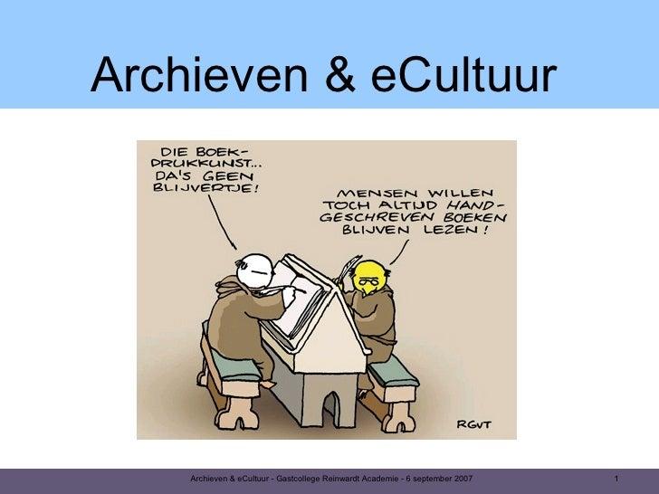 Archieven & eCultuur