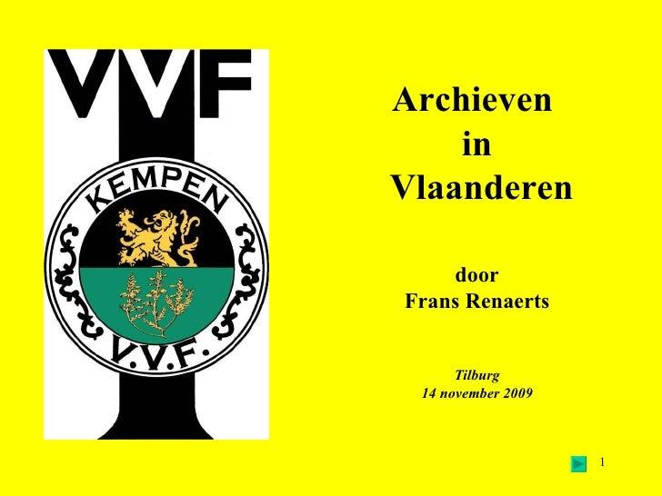 Archieven In Vlaanderen