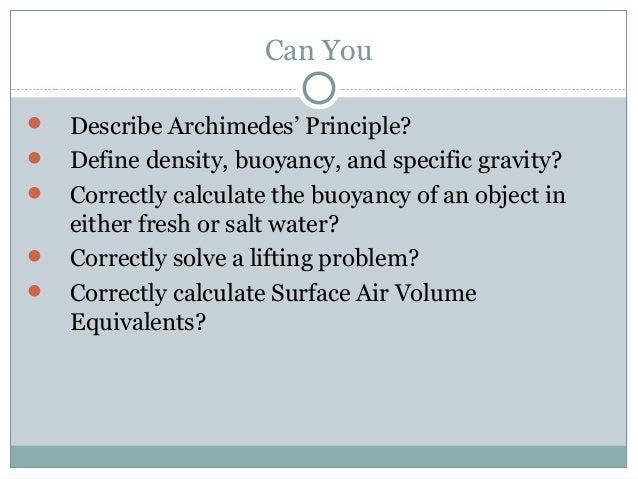 specific gravity by archimedes principle