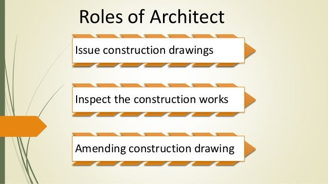 role architect essay The architect' s work what is the role of an architect on a construction site their role is important in every stage of the construction software.