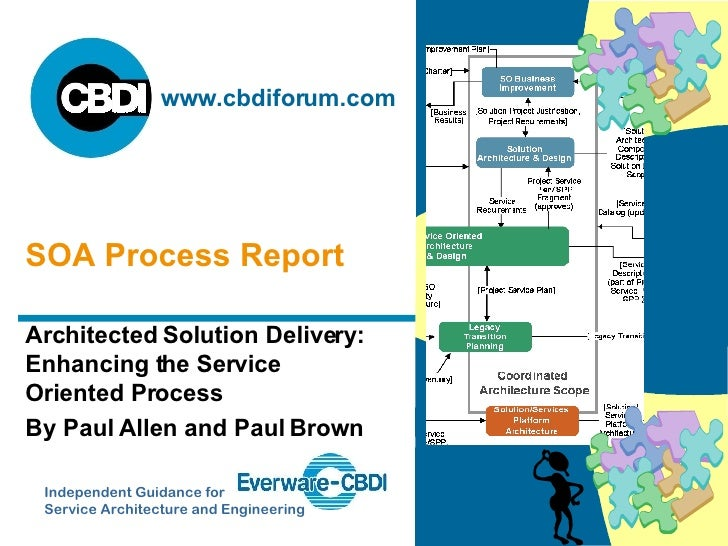 Architected Solution Delivery: Enhancing the Service Oriented Process By Paul Allen and Paul Brown SOA Process Report