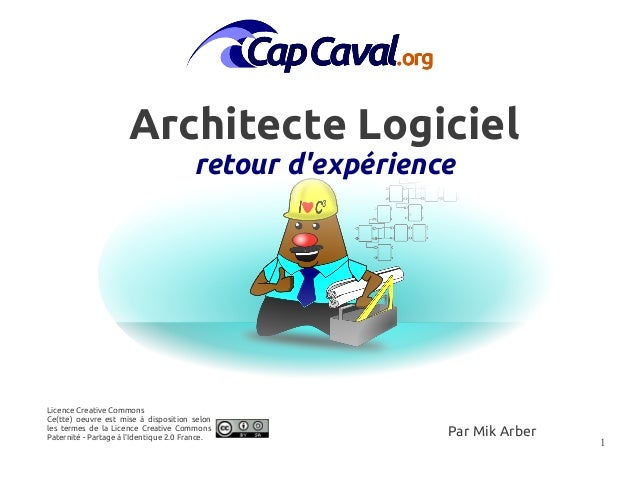 Retour d 39 exp rience du m tier d 39 architecte logiciel for Architecte definition du metier