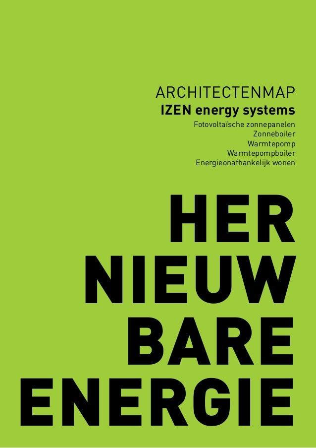archItectenmap  izen energy systems Fotovoltaïsche zonnepanelen Zonneboiler Warmtepomp Warmtepompboiler Energieonafhankeli...