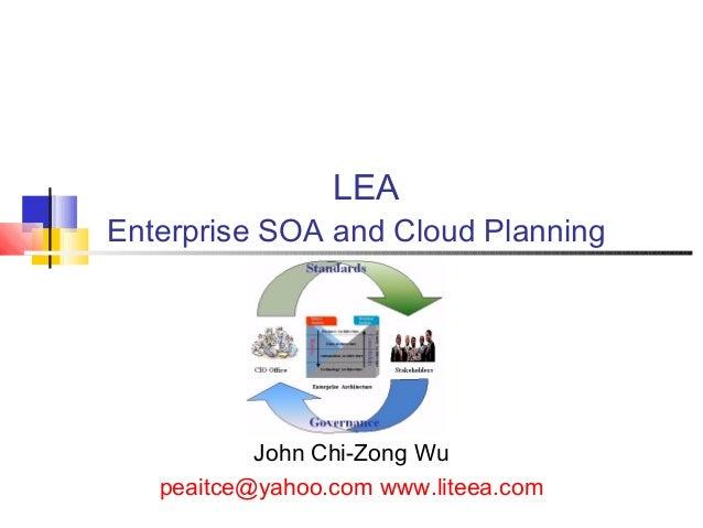 Enterprise SOA & Cloud Computing planing