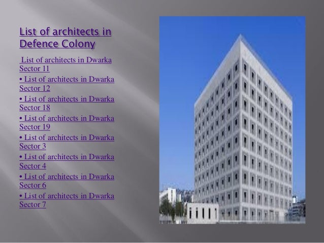 Delightful List Of Architects