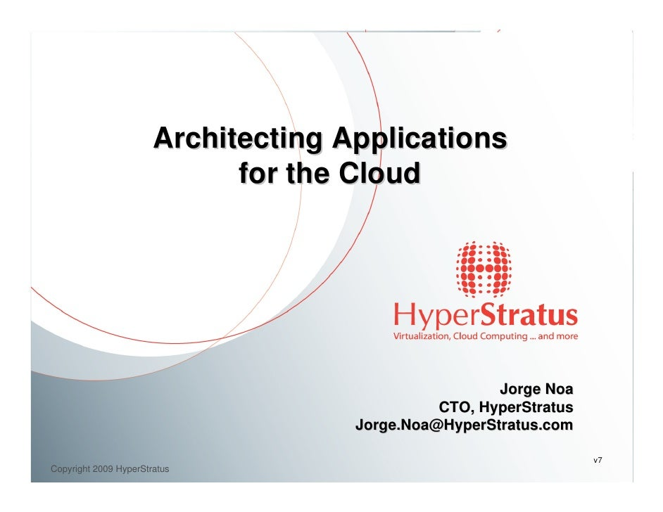 O'Reilly Webcast: Architecting Applications For The Cloud