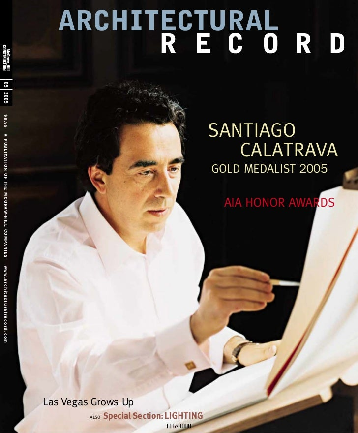 Architectural record 2005 05 santiago calatrava aia honor award