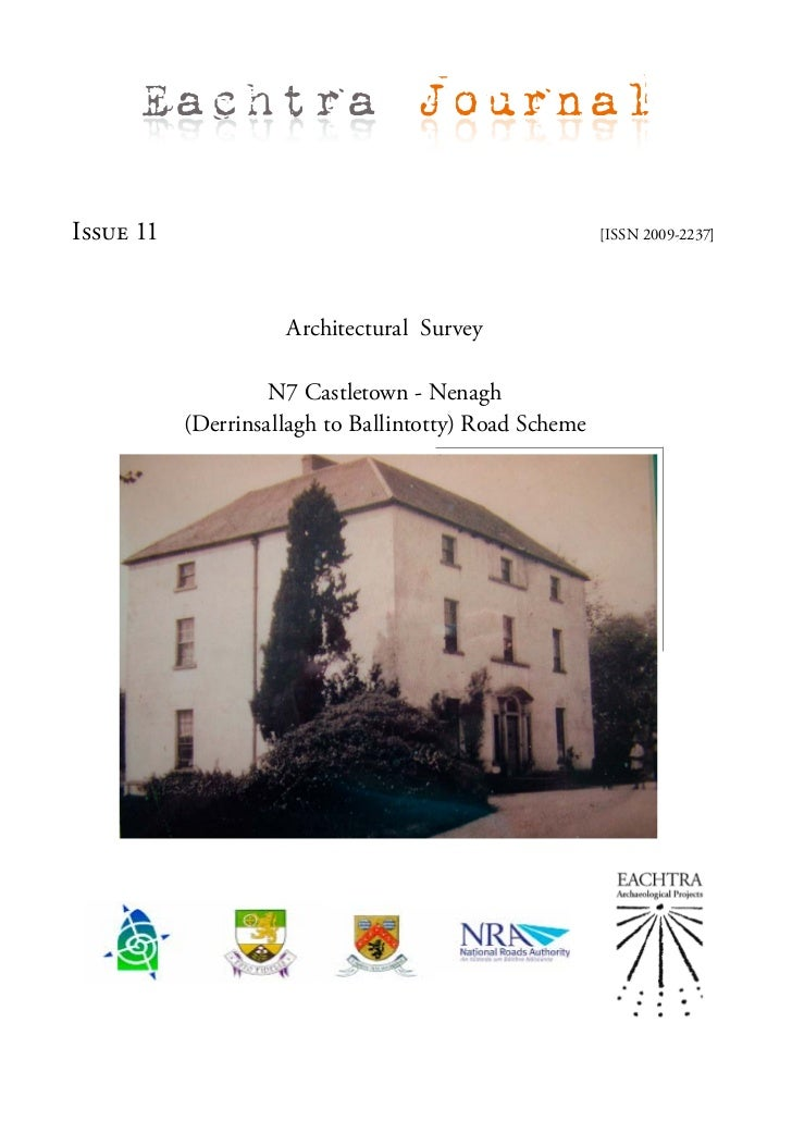 Architectural Survey - N7 Castletown-Nenagh Road Scheme