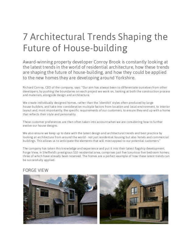 7 architectural trends shaping the future of housebuilding