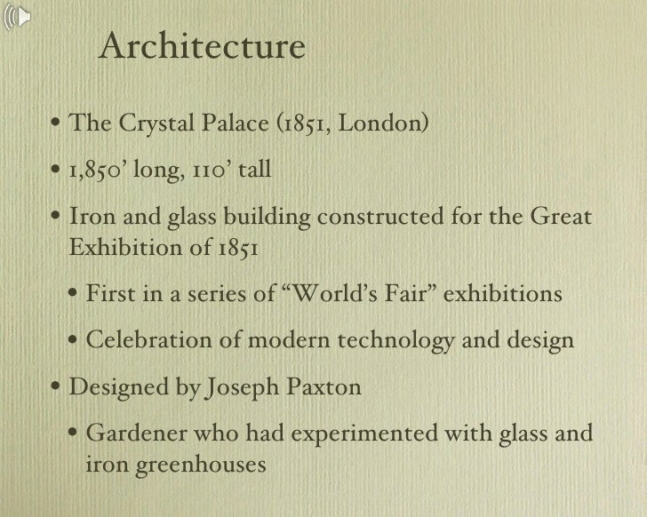 Architecture After the Industrial Revolution