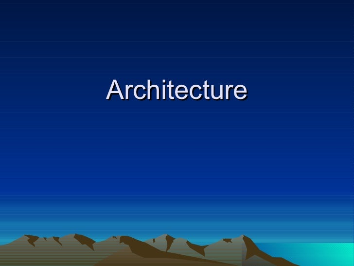 Architecture (Post and Lintel/Pyramids)
