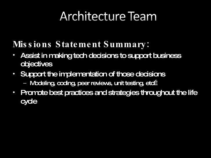 Architecture Guidance