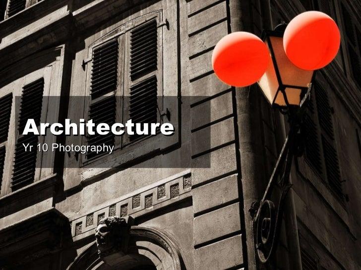 Architecture - Lesson 1