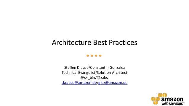 Architecture Best Practices