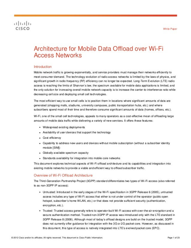 © 2012 Cisco and/or its affiliates. All rights reserved. This document is Cisco Public Information. Page 1 of 23 White Pap...