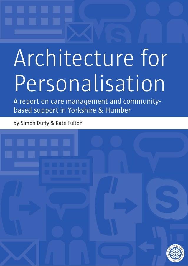 Architecturefor personalisationreport