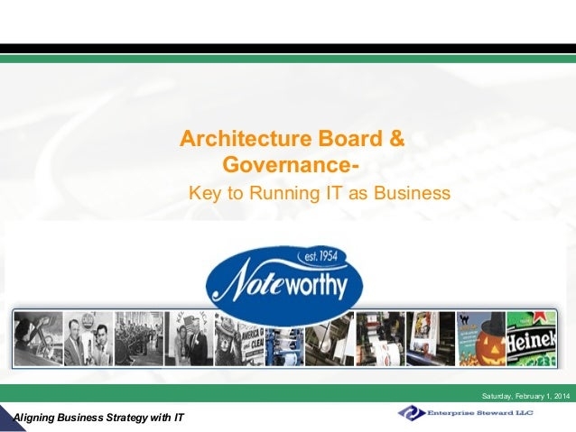 Architecture Board & GovernanceKey to Running IT as Business  Saturday, February 1, 2014  Aligning Business Strategy with ...