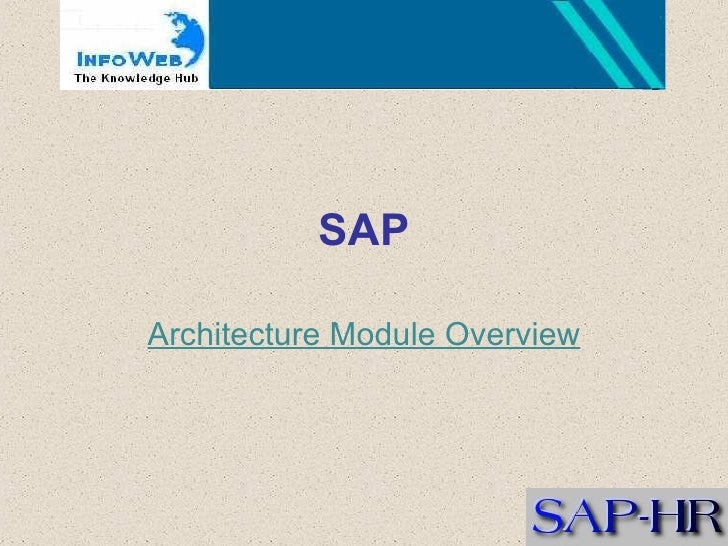 SAP Architecture Module Overview