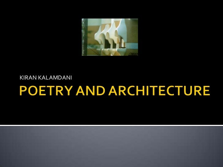 Architecture & Poetry