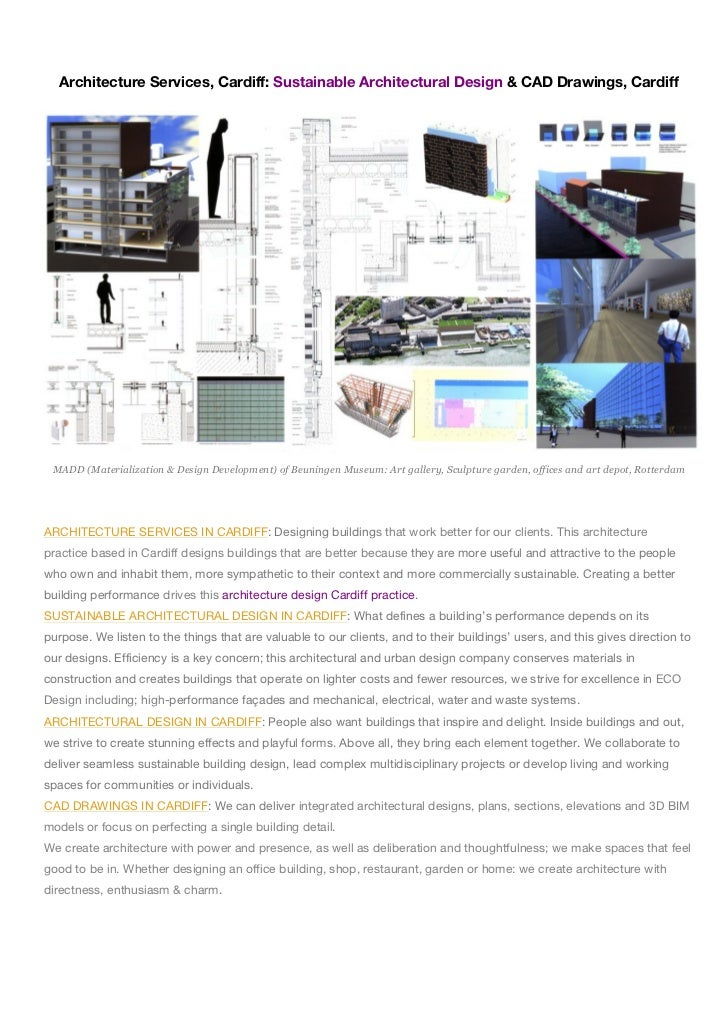 Architecture Services, Cardiff: Sustainable Architectural Design & CAD Drawings, Cardiff MADD (Materialization & Design De...