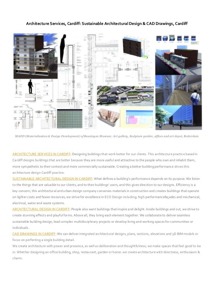 Architecture Services, Cardiff: Sustainable Architectural Design & CAD Drawings, Cardiff