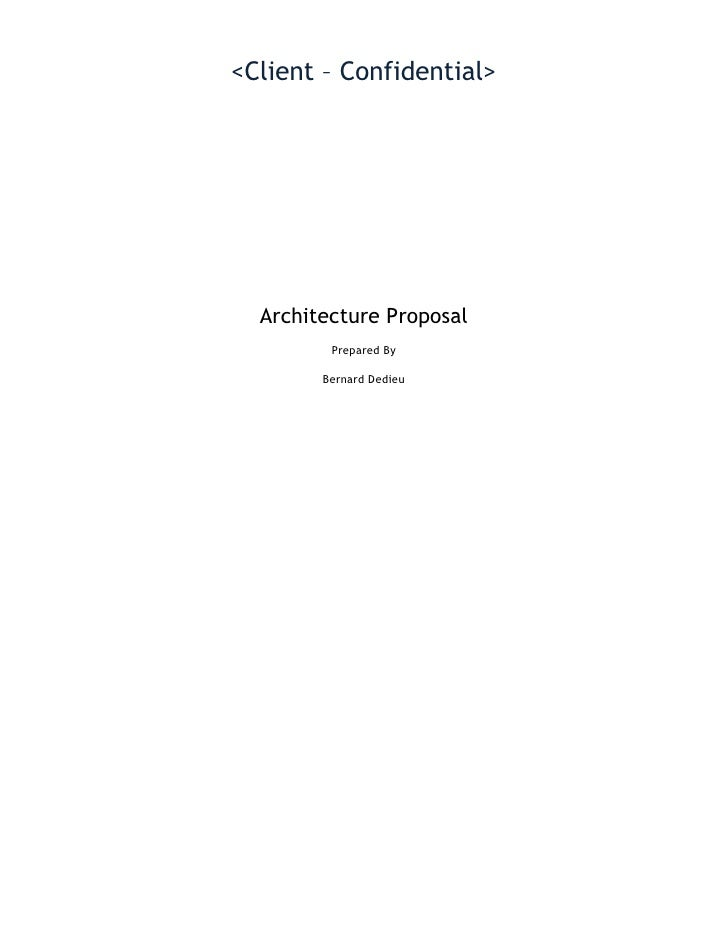Database Architecture Proposal