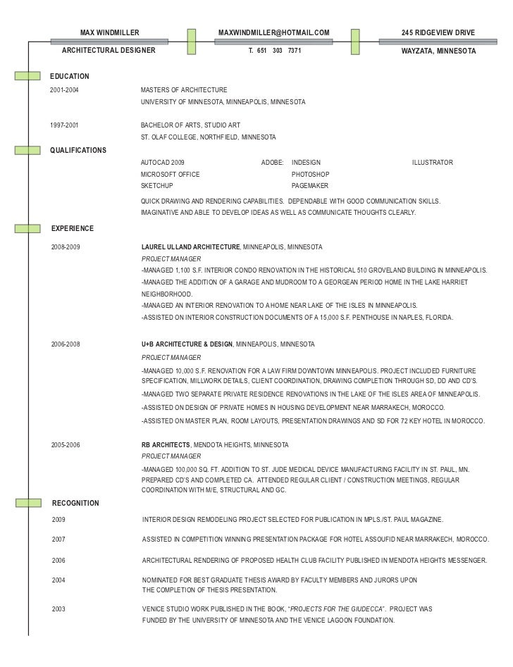 Technical Architect Cv Sample Work Experience Key Skills And